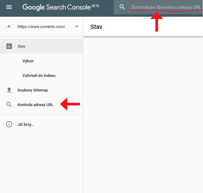 Nástroj Kontrola adresy URL - Kde to najdu?