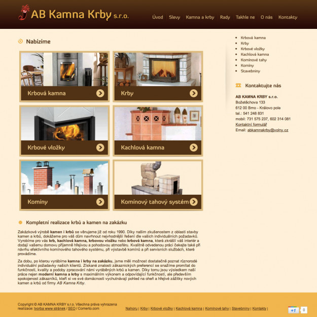 AB Kamna Krby - Reference