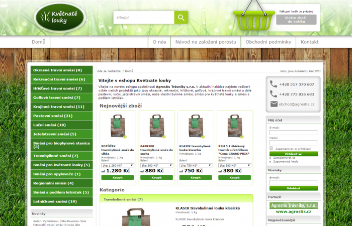 Agrostis - komplexní on-line marketing - Reference